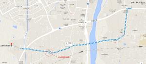 極楽寺への旧遍路道