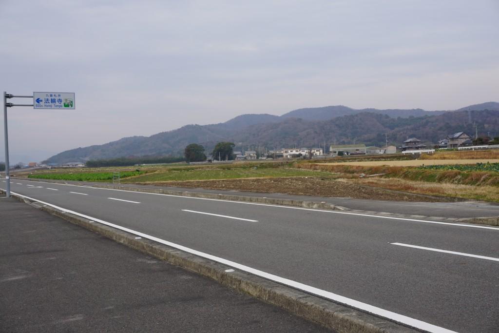 法輪寺 田舎道