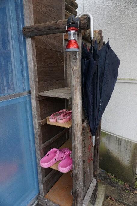 鴨島温泉「鴨の湯」いやしの宿舎 傘・サンダル・ランタン
