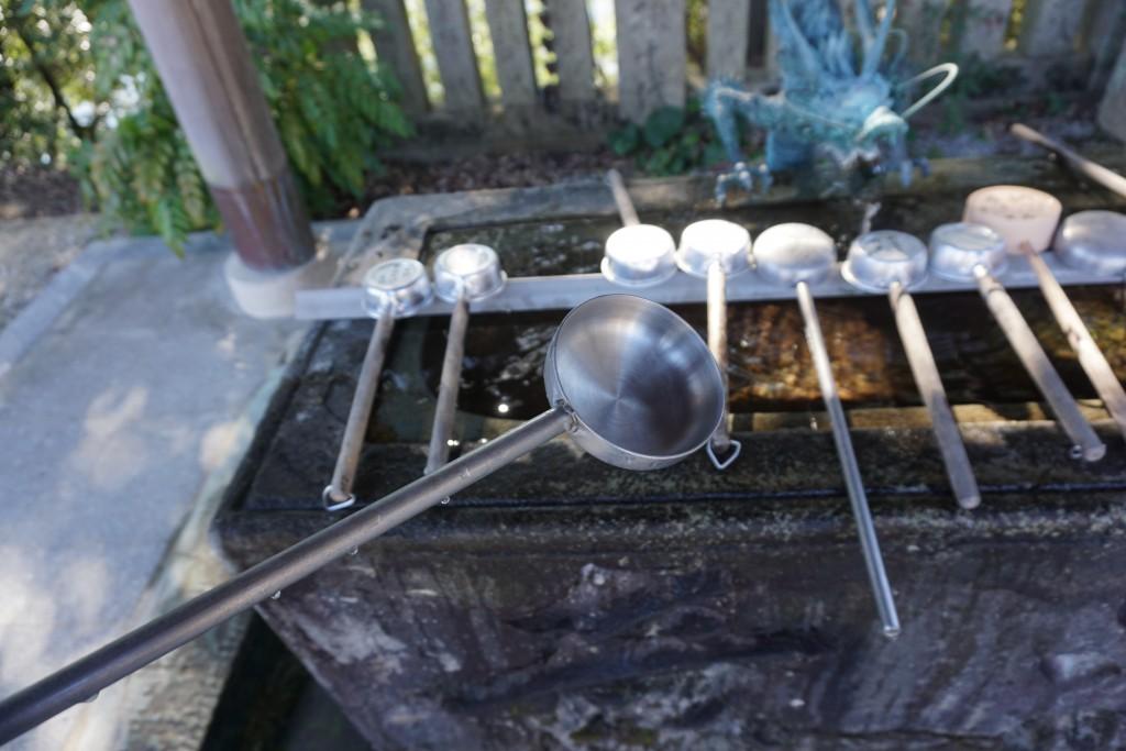 常楽寺 手水舎 柄杓