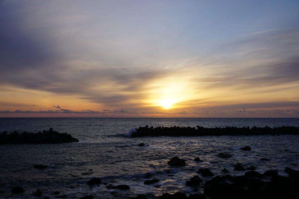 佐喜浜 海岸 日の出