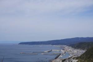 最御崎寺 山上から室戸市街の風景