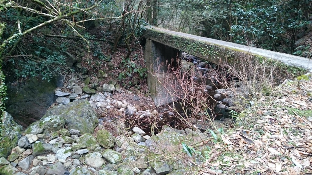 若杉谷川 遍路道 橋