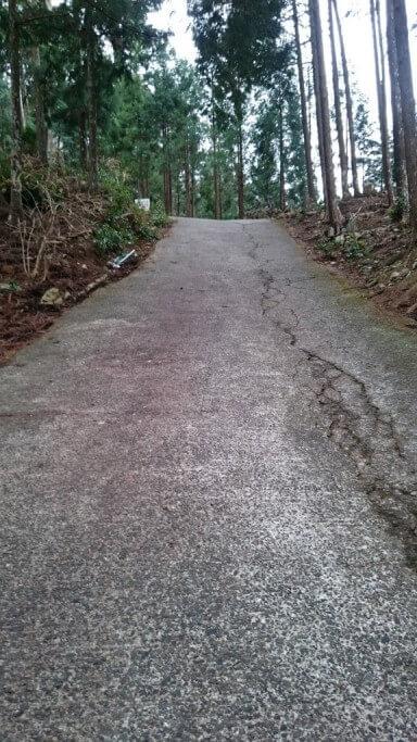 太龍寺 舗装急坂