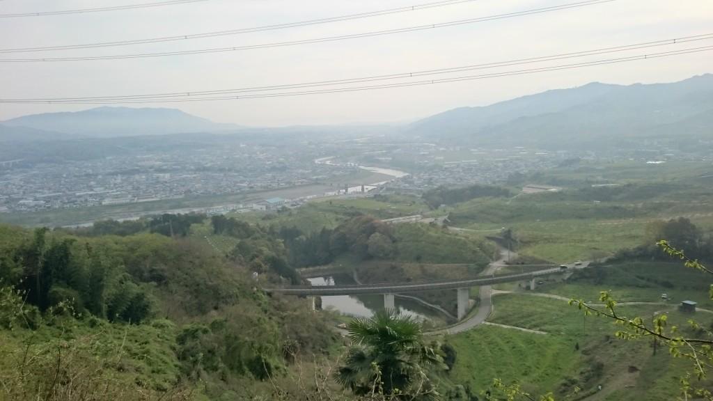 町石道 高野口方面の景色