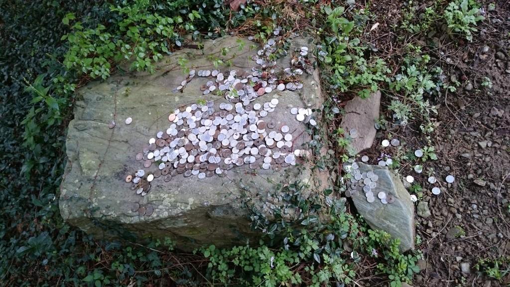 町石道 銭壺石