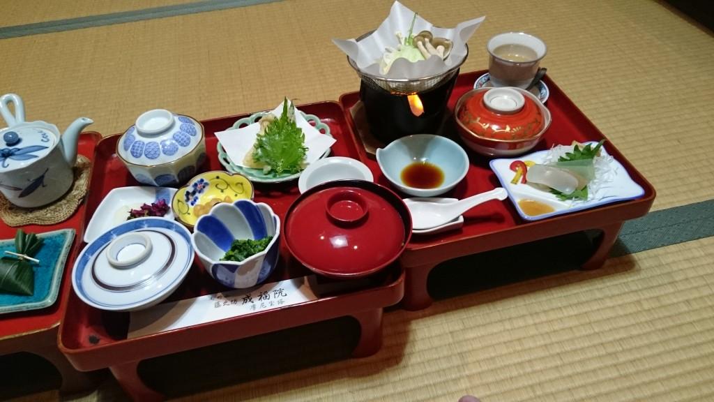 高野山成福院 夕食 お膳