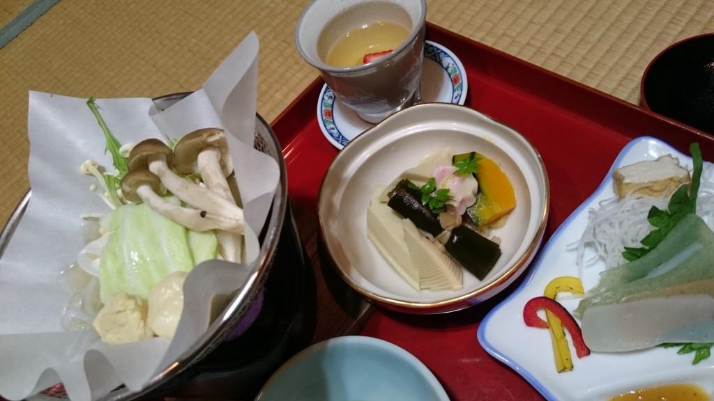 高野山成福院 夕食 高野豆腐 こんにゃく 湯葉