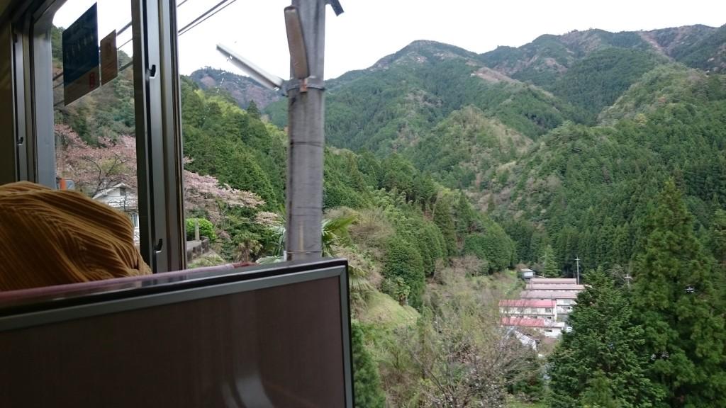 高野山 南海電鉄車内