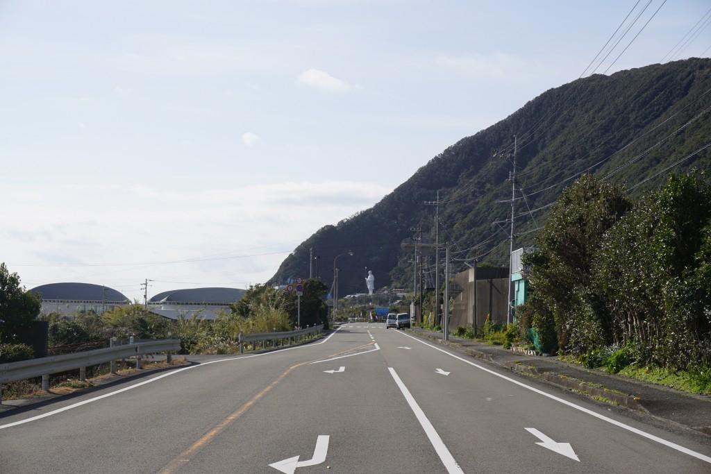 最御崎寺手前 海岸アスファルト道