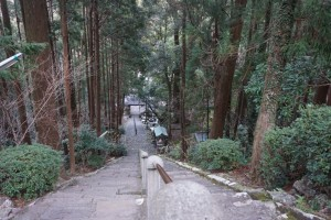 青龍寺 石段