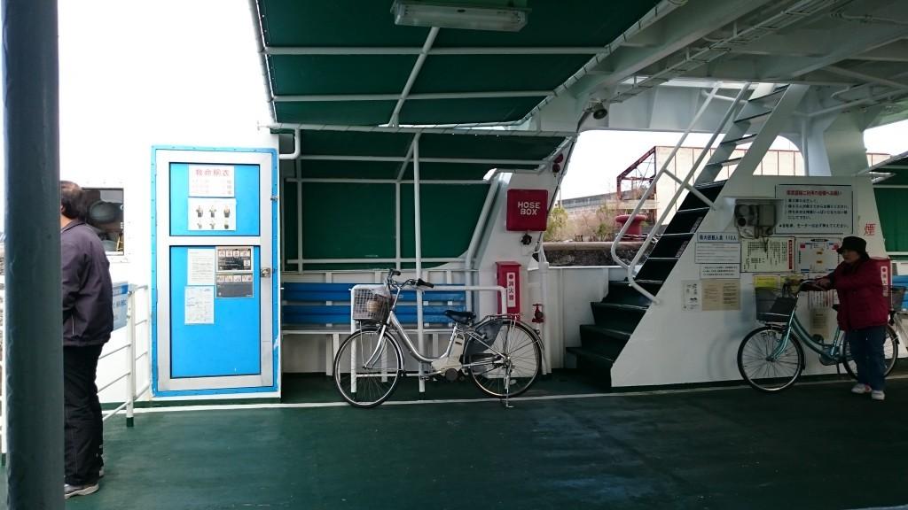 種崎長浜間県営渡船 自転車乗船