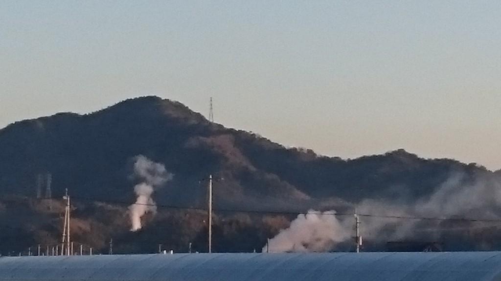 春野 山火事 2015年2月3日