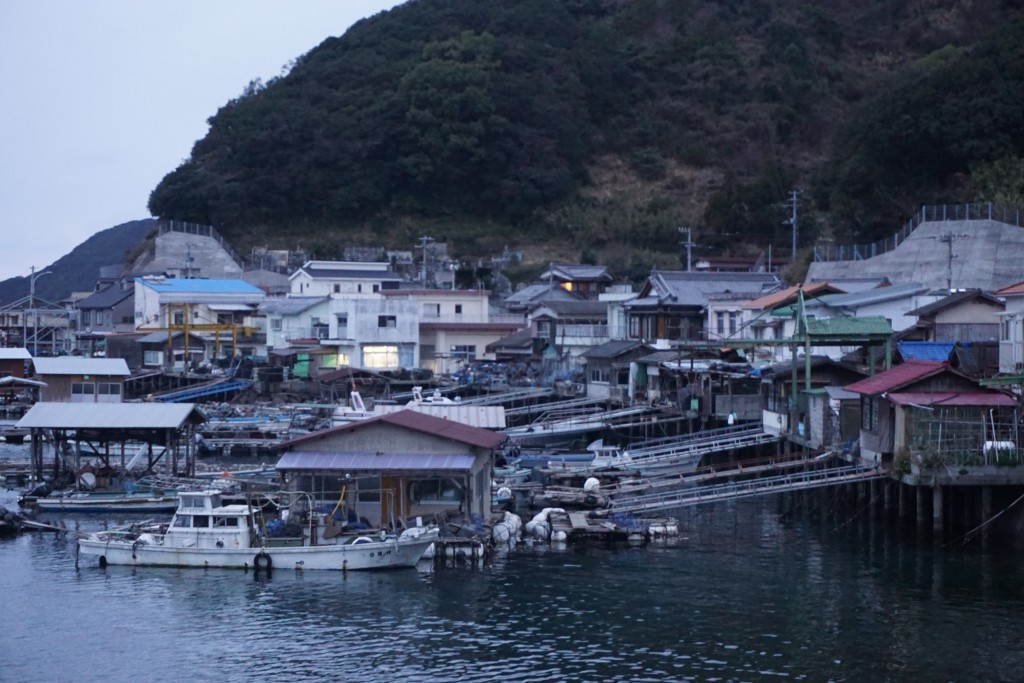 針木ふれあい広場 漁村風景 養殖小屋