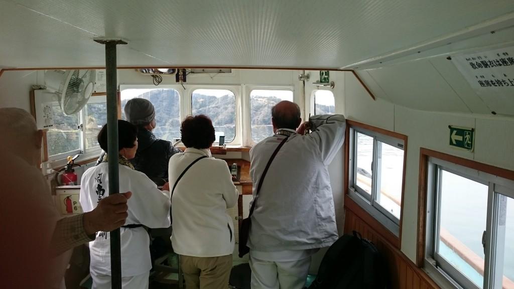 須崎市営巡航船 船内 先達