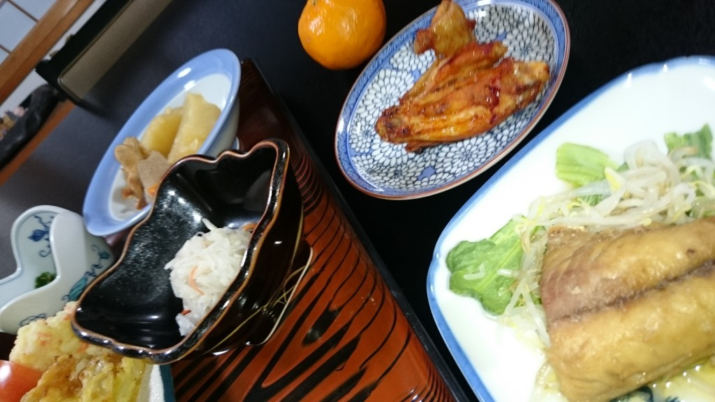 岩本寺 夕食 肉 魚