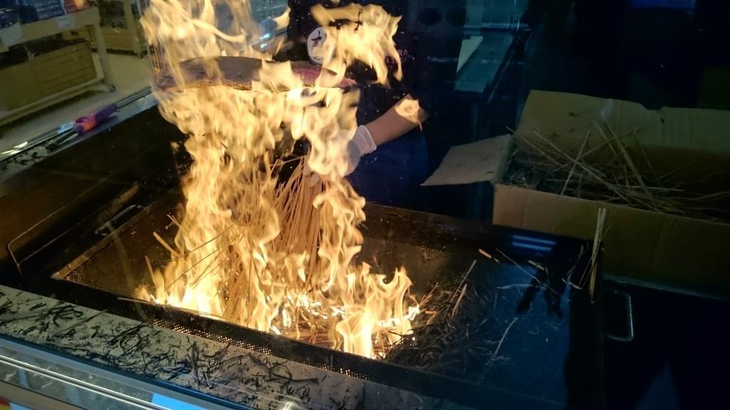 道の駅なぶら土佐佐賀 カツオの藁焼き