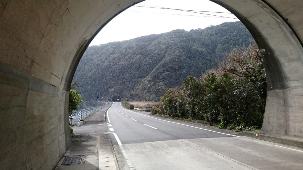 片粕トンネル 雪景色