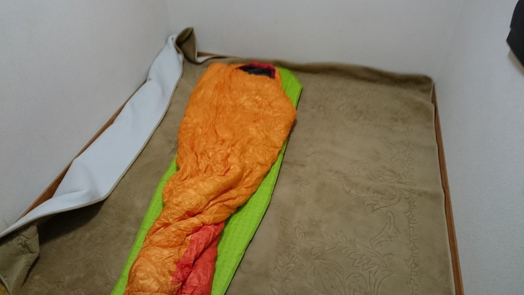 針木ふれあい広場 遍路小屋 絨毯 宿泊状況