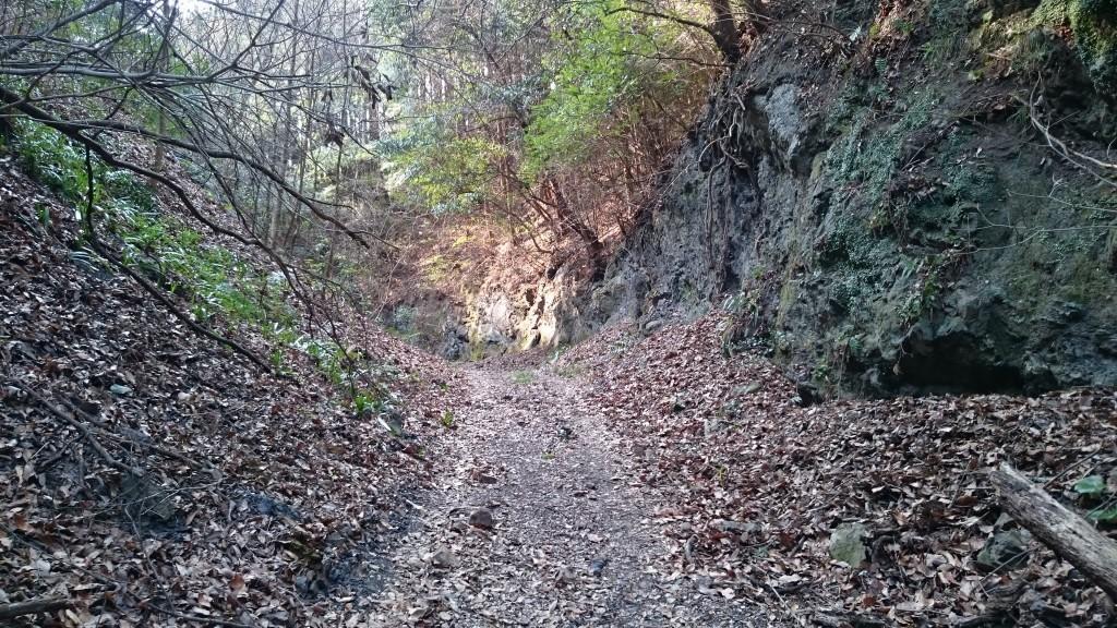 松尾峠へんろみち 頂上付近 岩道