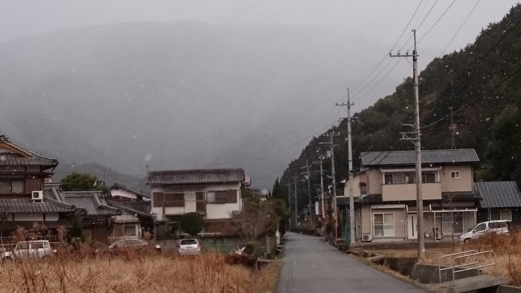 宇和島市三間町 2月中旬 雪