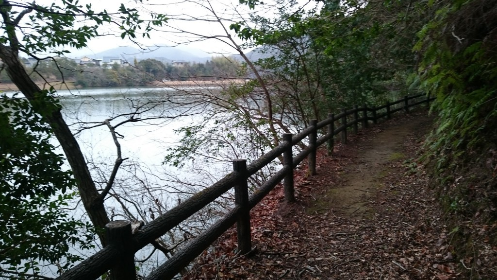 宇和島市三間町 中山池 四国のみち 自然遊歩道