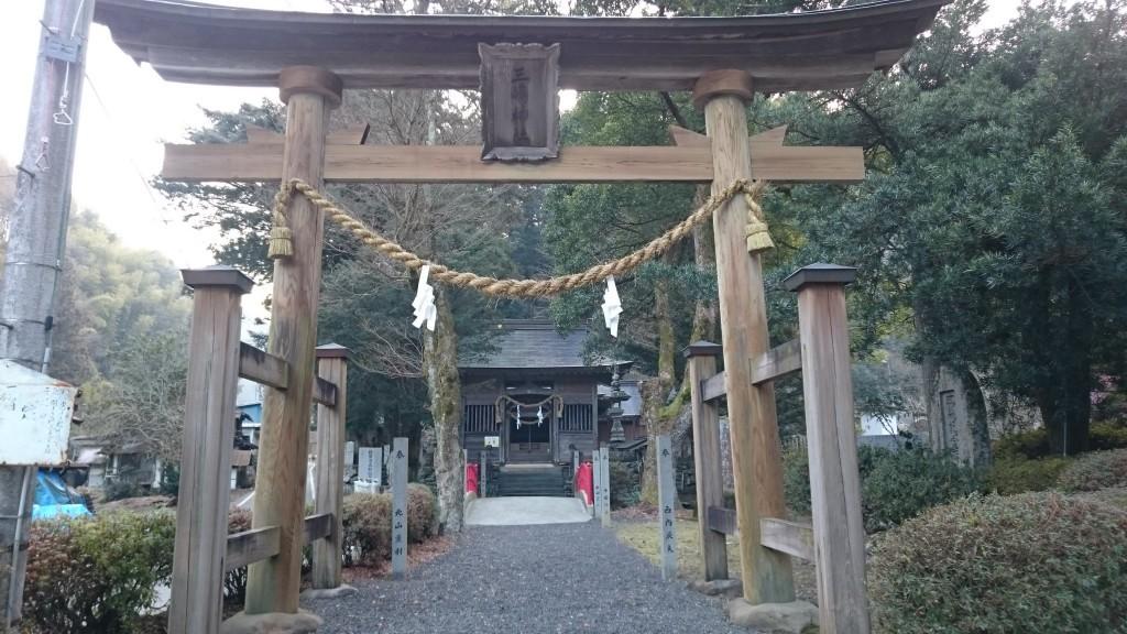 三嶋神社 畦々 県道42号