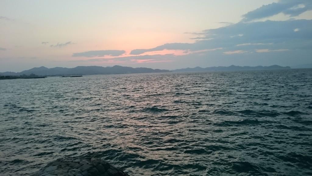松山市北条 瀬戸内海の夕景