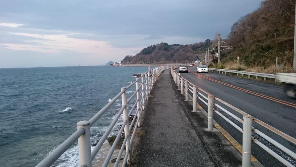県道347号 海岸沿い遍路道