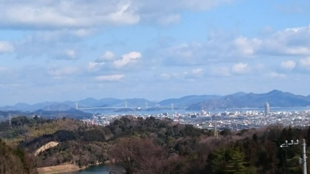 仙遊寺 登山道 瀬戸内海 今治市街 景色