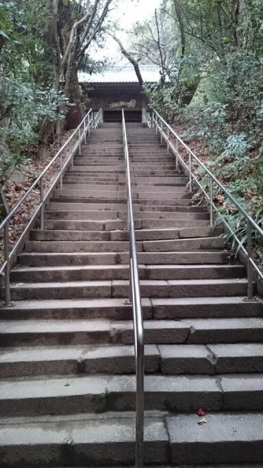 弥谷寺 山門前石段