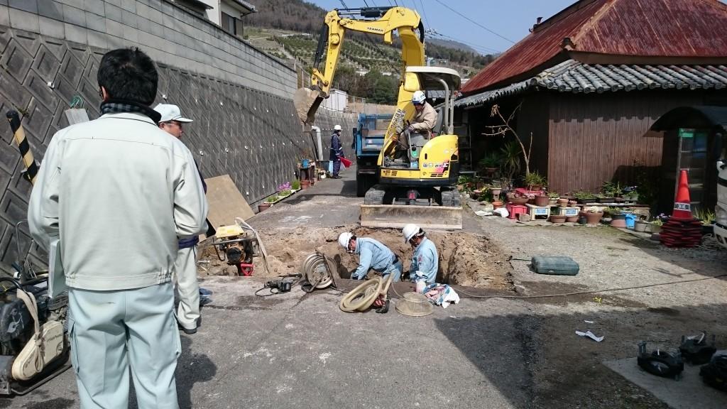 80番札所国分寺への遍路道 工事中