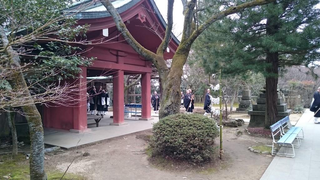 根来寺 高野山専修学院の学生たち