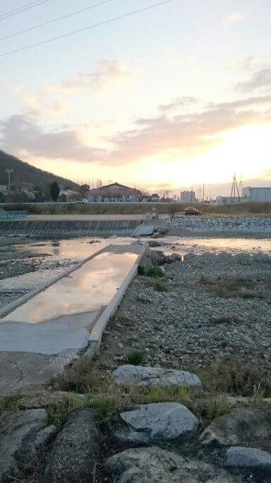 香東川 沈下橋 落橋