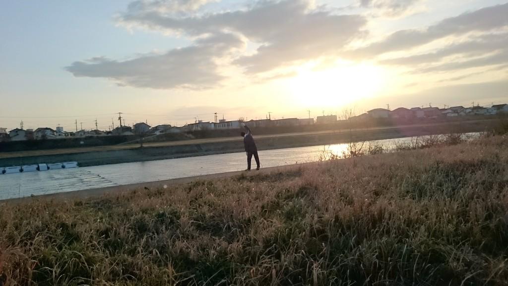 香東川 河川敷 地域住民 ラジオ体操
