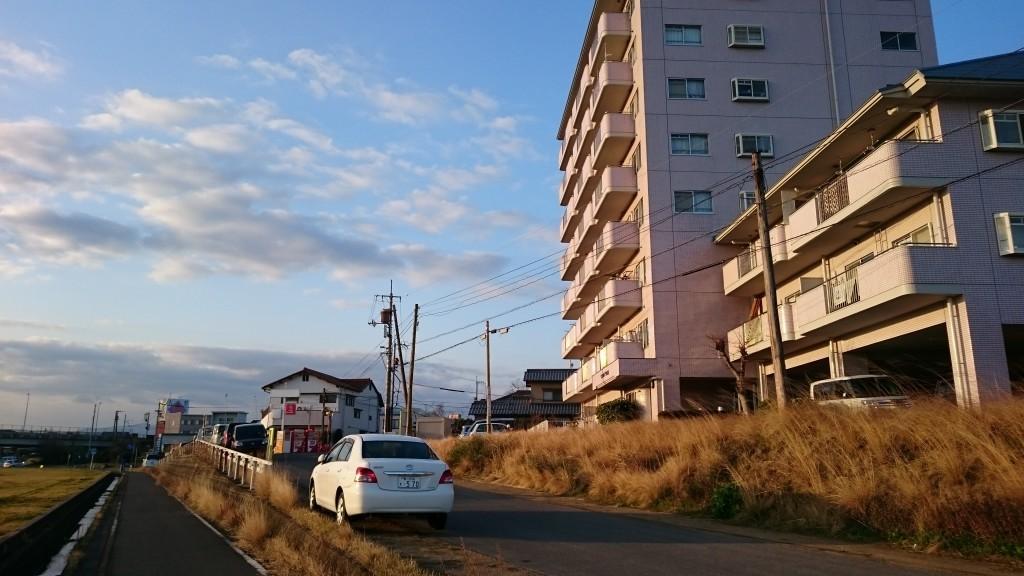 香東川 河川敷 分岐道