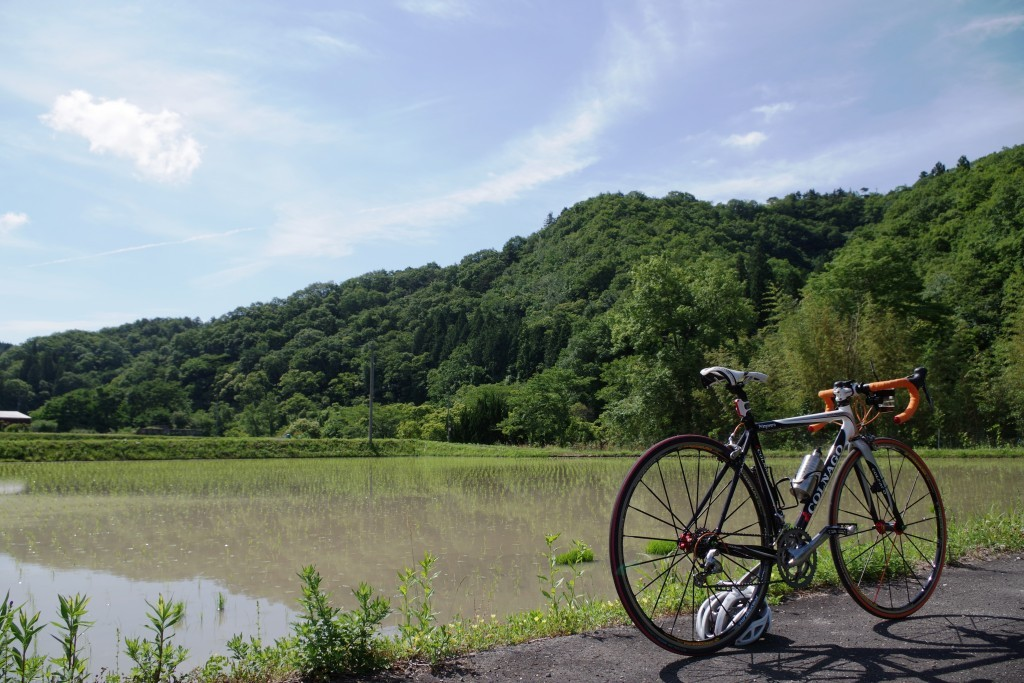 自転車風景写真