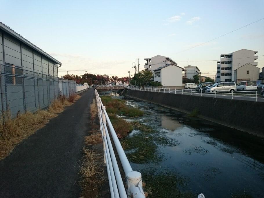 御坊川 川沿い遍路道