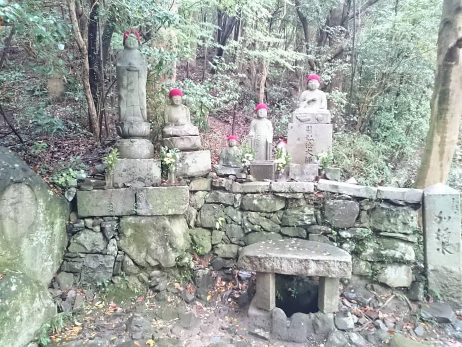 屋島寺への遍路道 御加持水