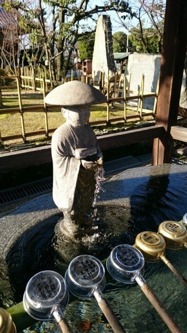 一宮寺 手水舎弘法大師像