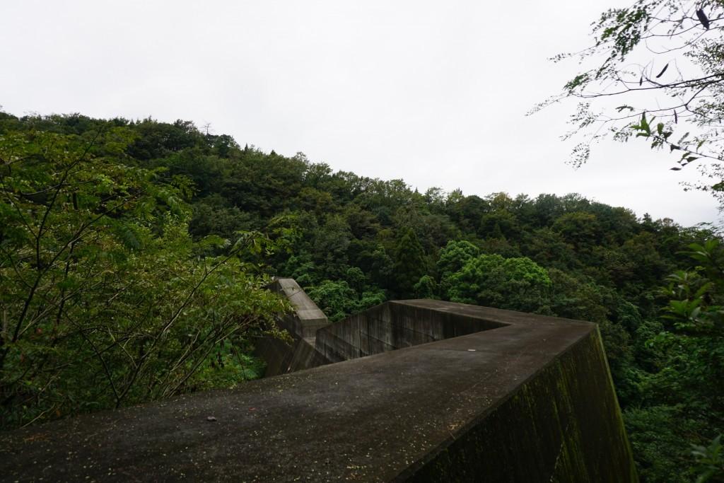 天霧城から海岸寺への遍路道 砂防ダム上部
