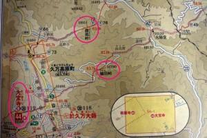 鴇田峠 久万高原地図