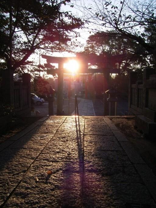 玉前神社 春分秋分太陽