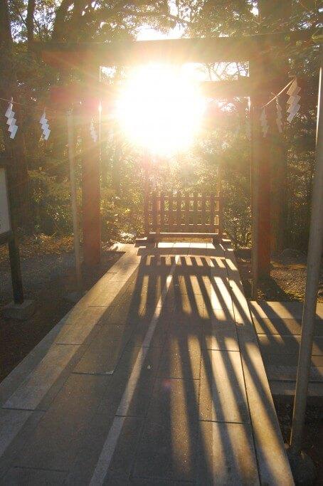 白濱神社 冬至夕陽