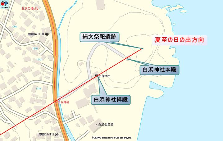 白濱神社 境内配置