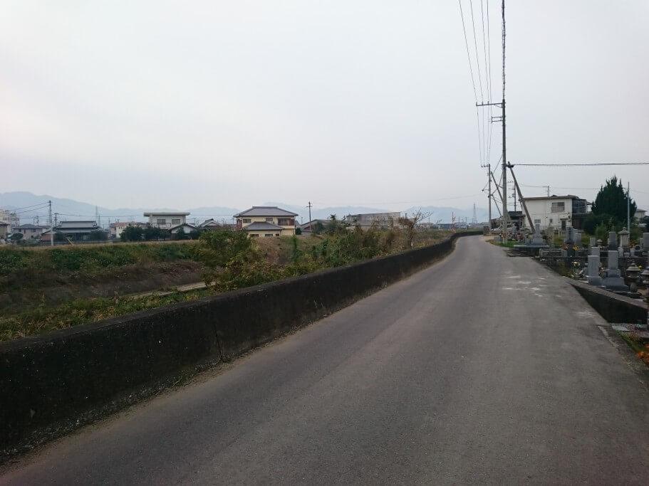 鴨部川沿い遍路道