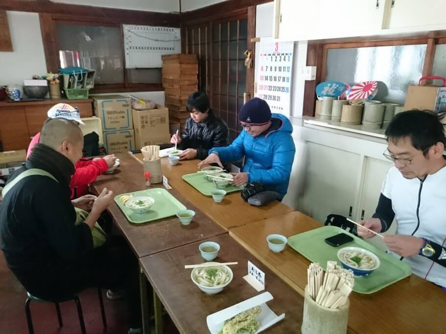 田村神社うどん食事