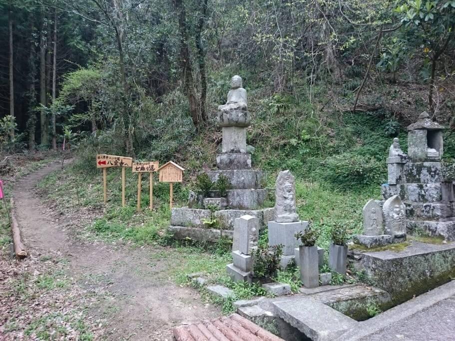 八栗寺への遍路道 七曲り道入口