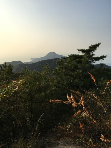 妙見山から見た荘内半島の突端