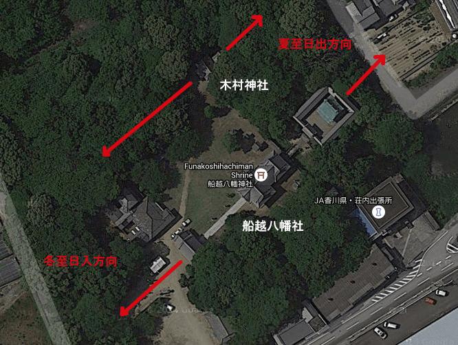 船越八幡宮 木村神社 レイライン
